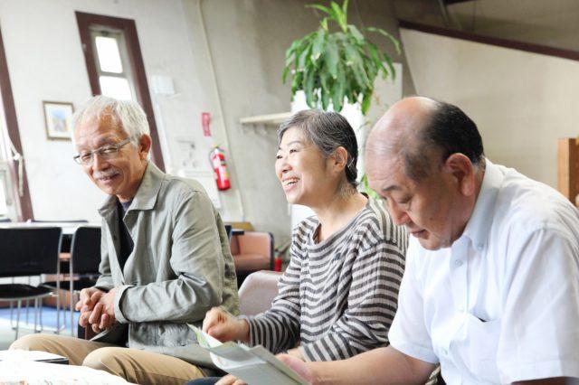左から 嶋田幸男さん(七月工房)、齊藤祐子さん(SITE)、今井隆明さん(大学セミナーハウス)