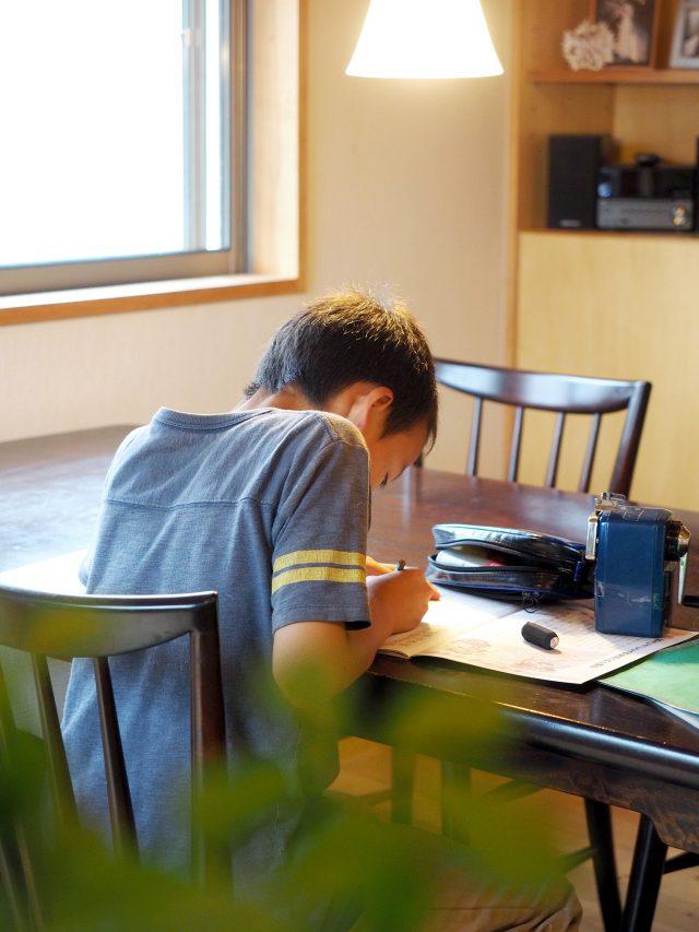 ダイニングテーブルは食卓や勉強机としても使えます。