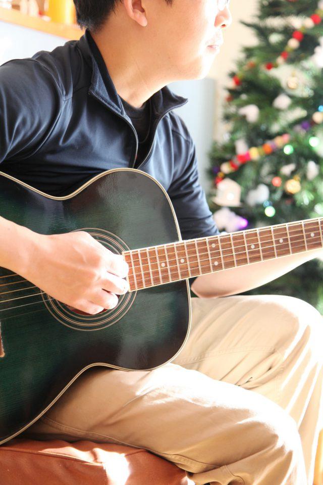 ギターを披露してくださったご主人
