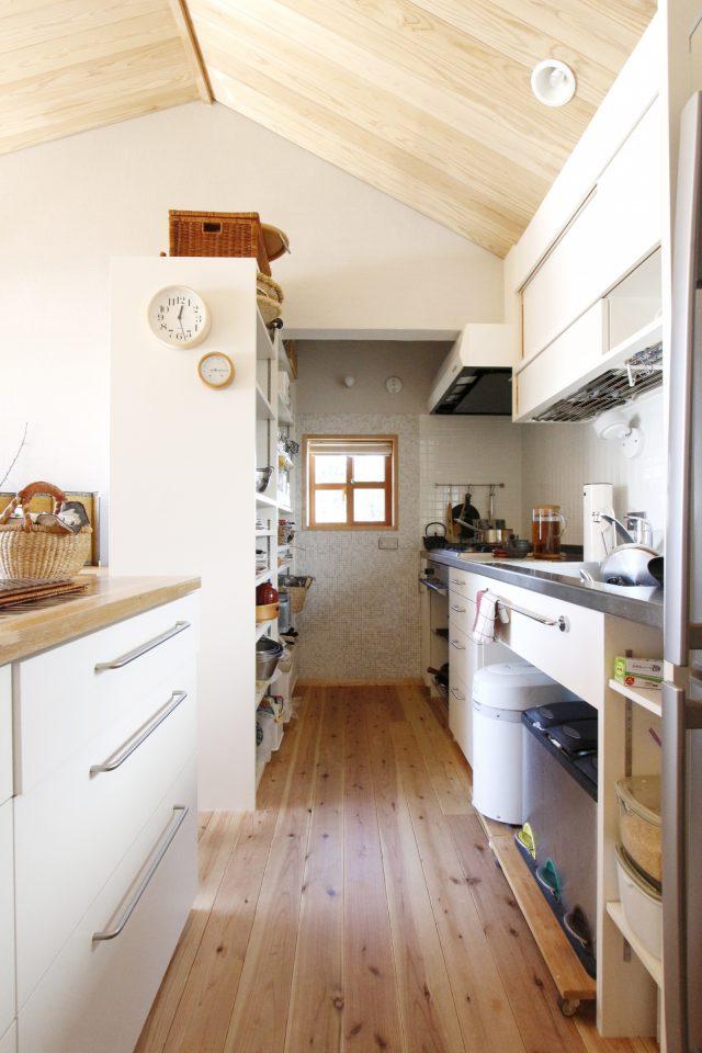 回遊性のあるキッチン