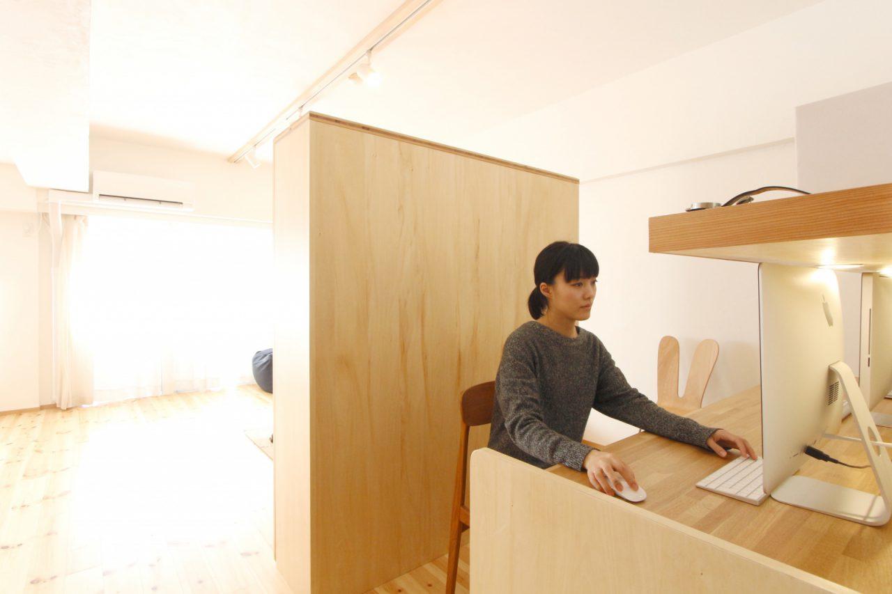 「家ではたらく」を実現する書斎兼ワークスペース。