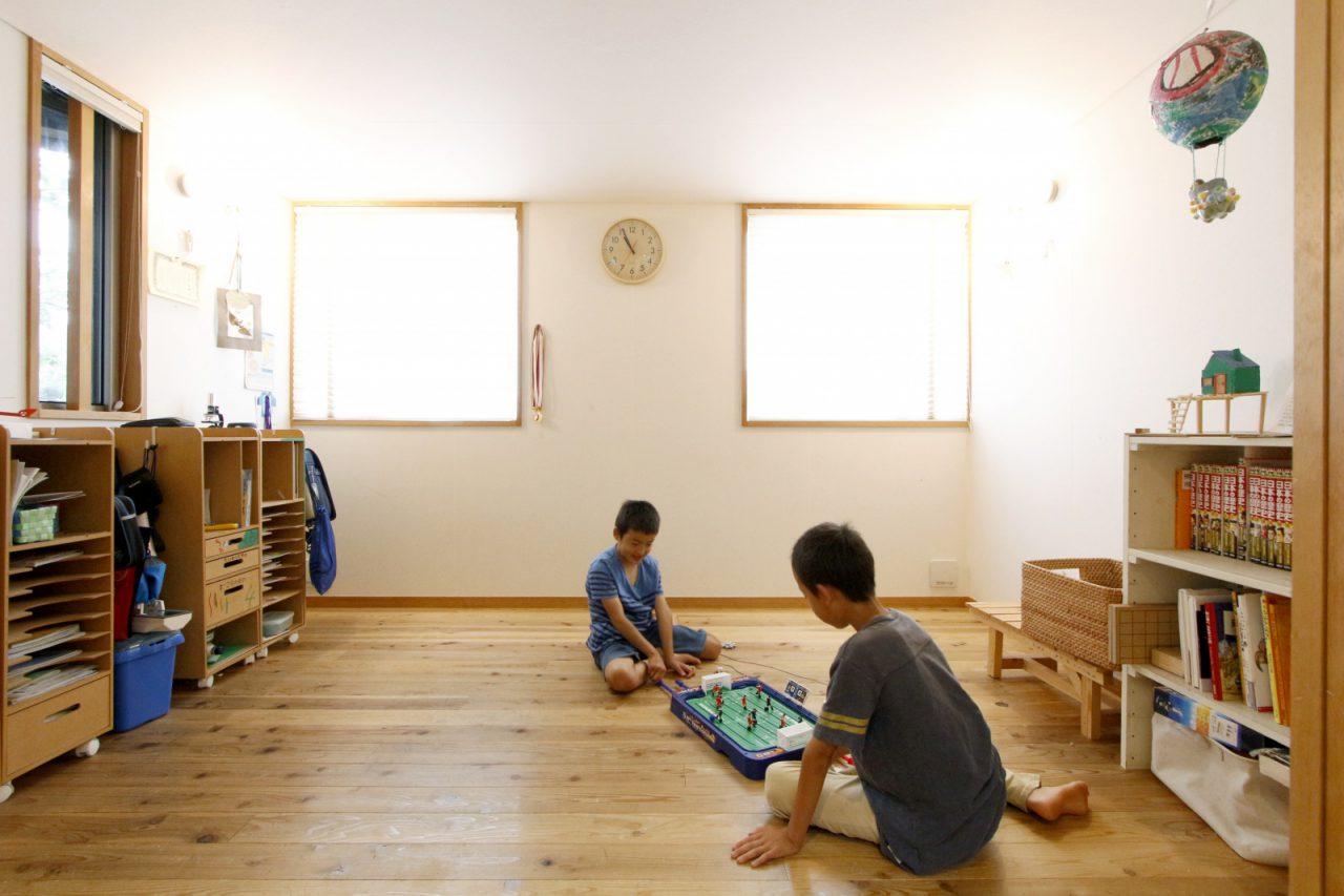 将来2部屋に仕切ることのできる子ども部屋。