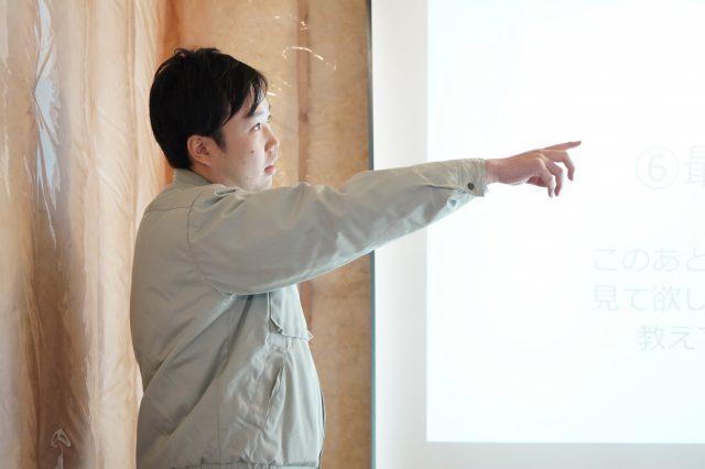 「ヒトコトの家」設計者の松本。