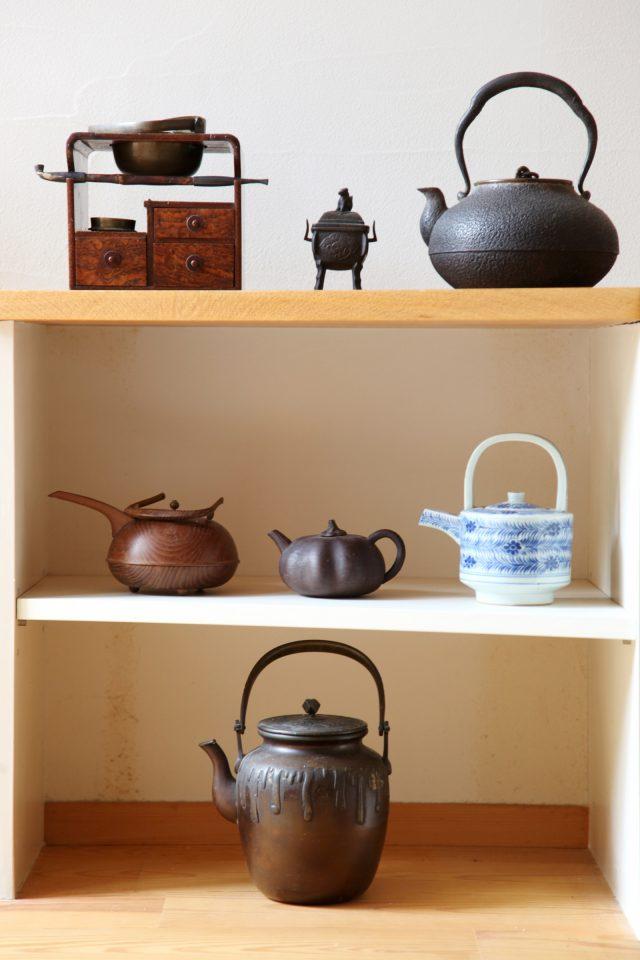 素敵に飾られている古道具