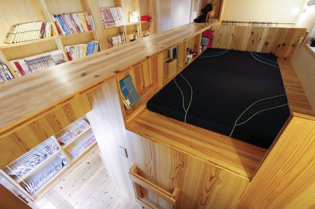 ベッド上段部分
