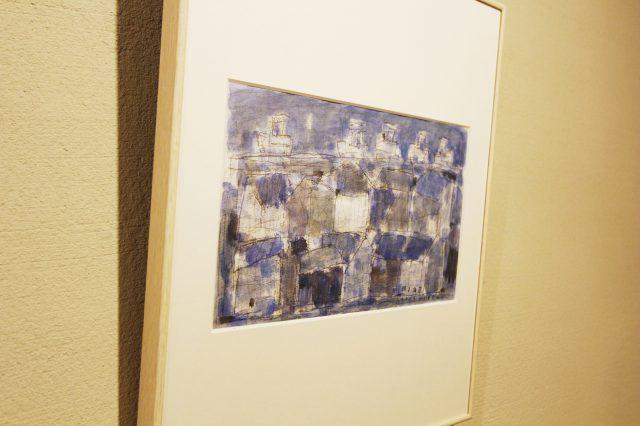 森本秀樹さんの街並みを描いた水彩