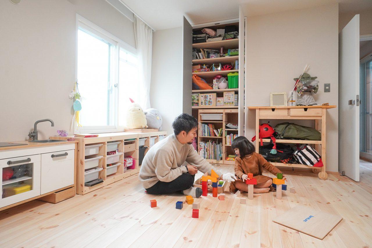 子ども部屋は間仕切りすることが可能。