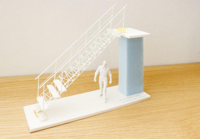 ご主人が制作した階段の模型