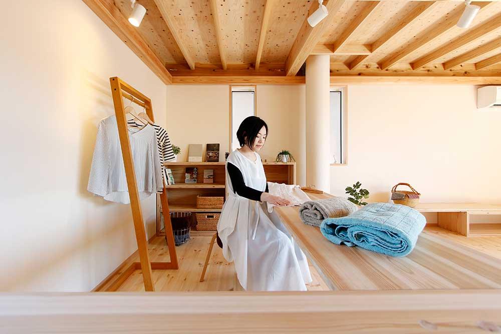 活用例3:洗濯物・家事スペースに