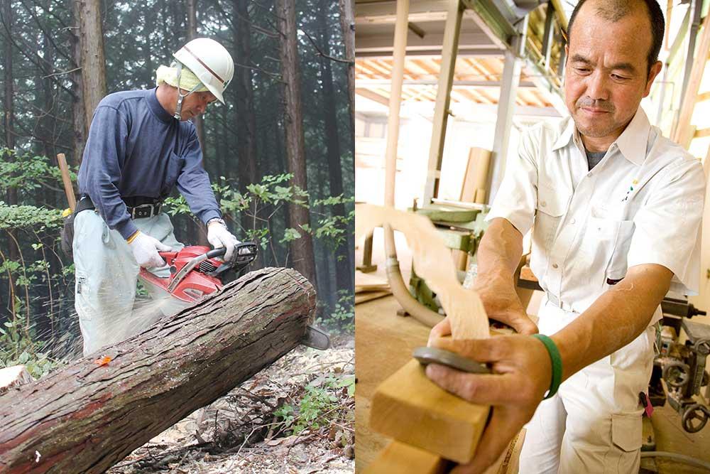 東京生まれの良質な木材を使う