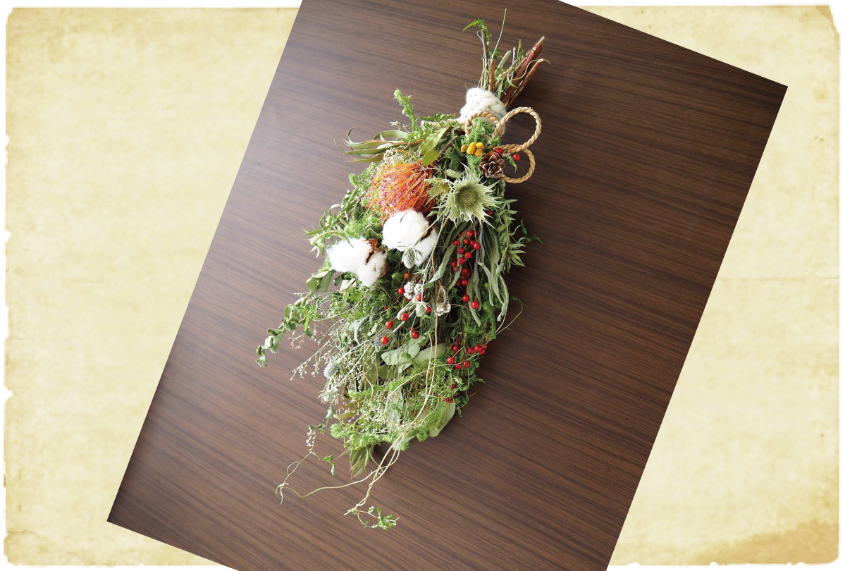 クリスマススワッグとミニしめ飾り(終了)