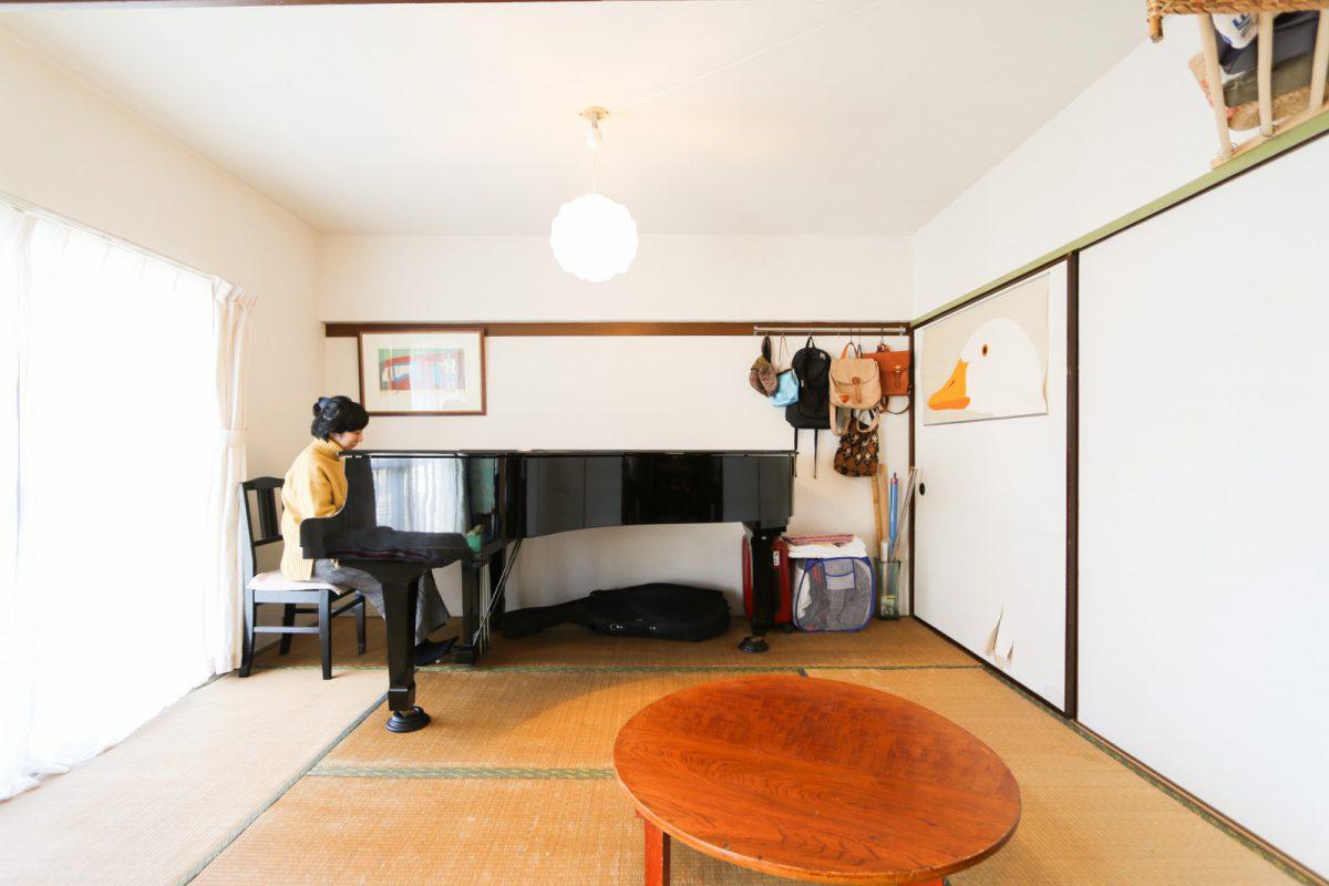 グランドピアノが印象的な、とても素敵な暮らし