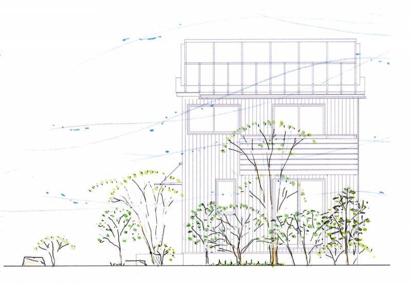 南面の植栽計画。
