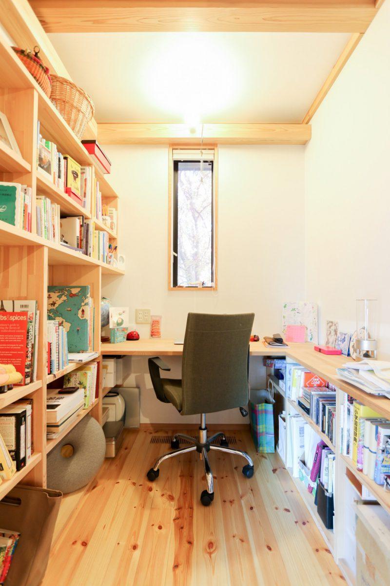 ちょうどいいサイズの書斎