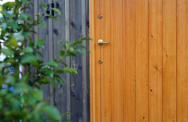 ドアは広島のユダ木工のもので、ハンドルと鍵は歴史ある堀商店です。