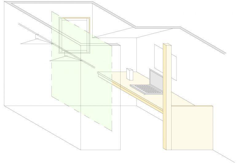 寝室脇のこもれるスペース(1階)