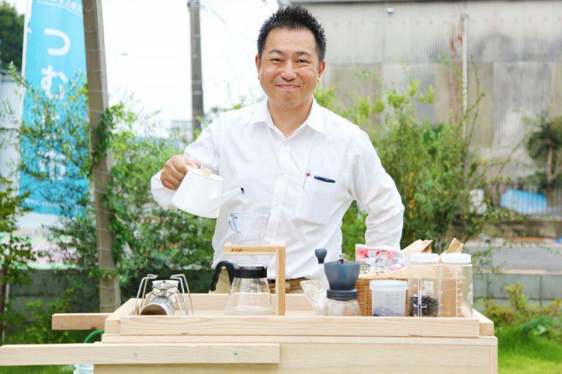 二日目に出店する「TSUMUJI COFFEE」(広報営業の新がドリップします!)