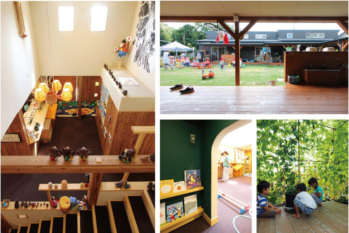 保育園の園舎にはあちこちに子ども達の居場所があります