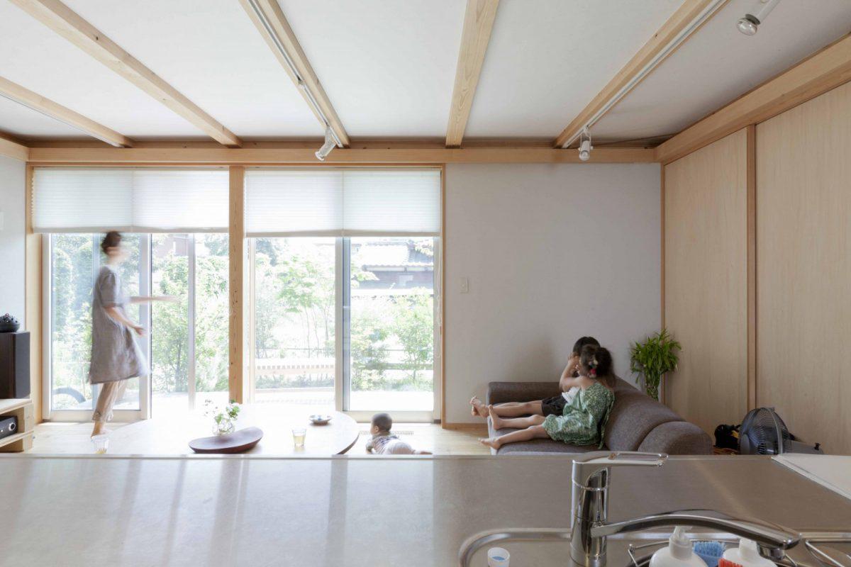 木や和紙、自然素材でつくる気持ちの良い空間(一階リビングのイメージ)