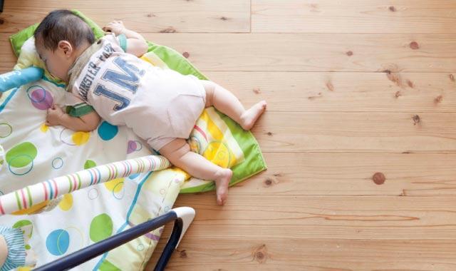冷暖房時の空気が家全体にやわらかく広がるため、小さいお子さんにも安心です。