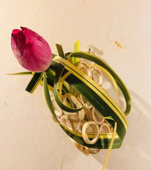 気軽に楽しむ!いけばなレッスン 「自作花器にいける掛け花」