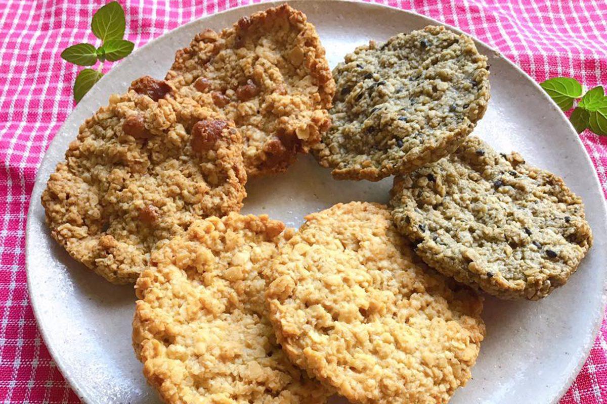 ヴィーガンおやつ「食物繊維豊富!オーツ麦100%クッキー」(終了)
